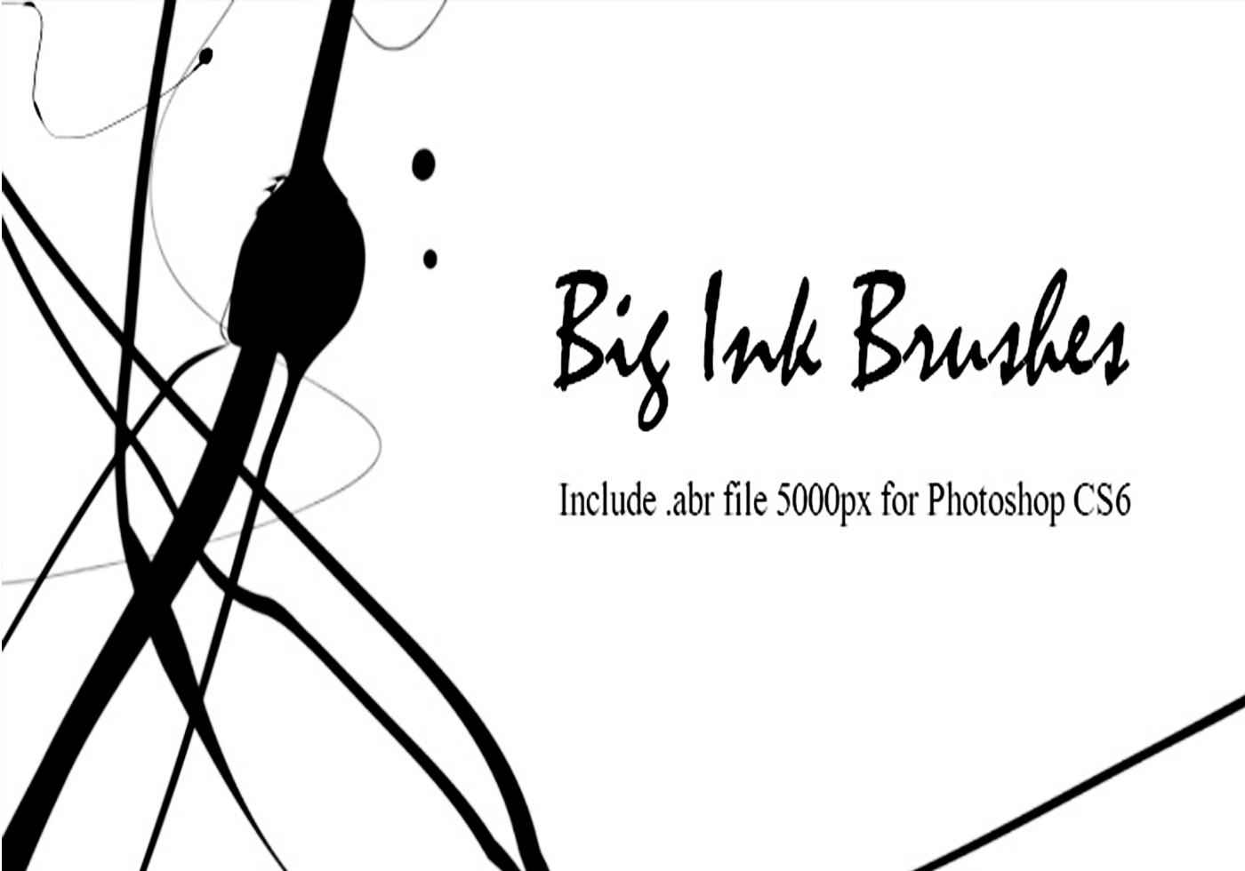 10 Big Ink Brushes Free Brushes At