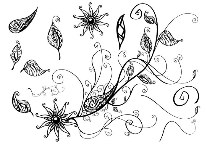 Floral Branch Brush Pack