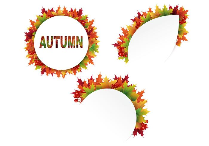 Cut Out Autumn Leaves PSD Pack