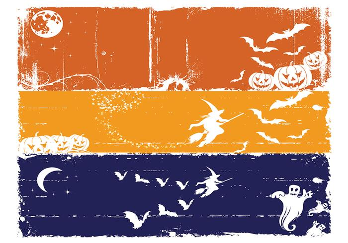 Grungy Halloween Banners för Photoshop