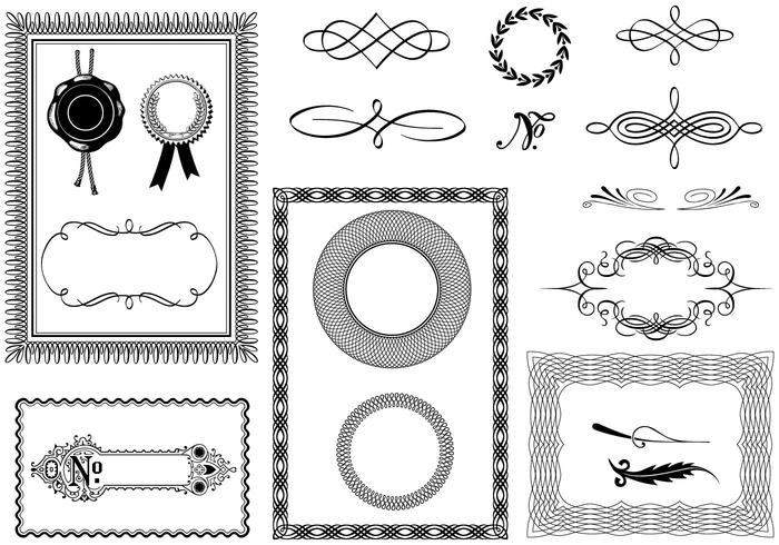 Certificate Brush Elements Pack