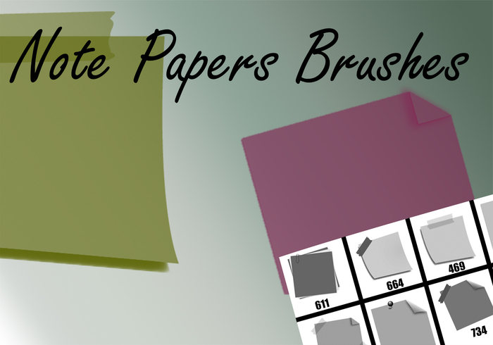 Sticky Note Brushes