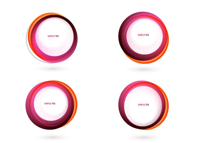 Pink Circle Banner PSD Pack