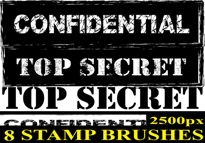 Confidential Stamp Photoshop Brushes