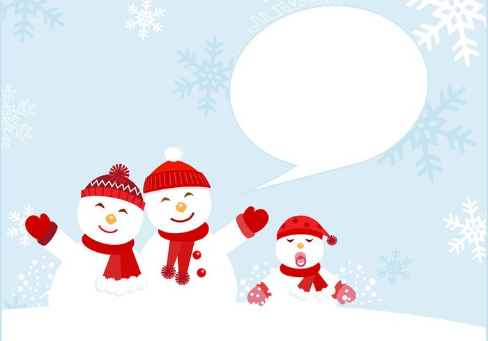 Snowman Family PSD Card e Brush Pack