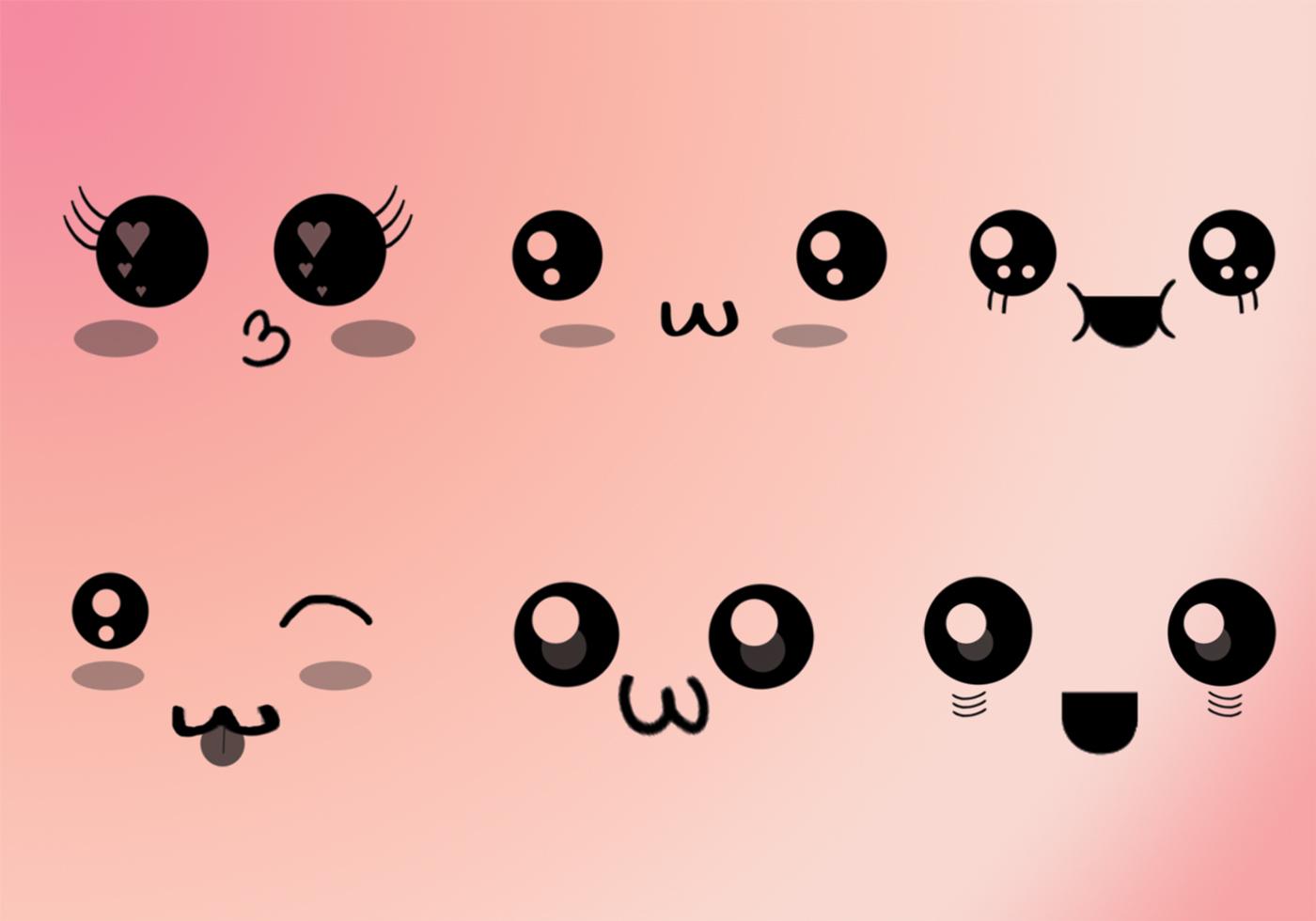 Cepillos de caras kawaii pinceles gratis de photoshop en brusheezy - Emoticone kawaii ...