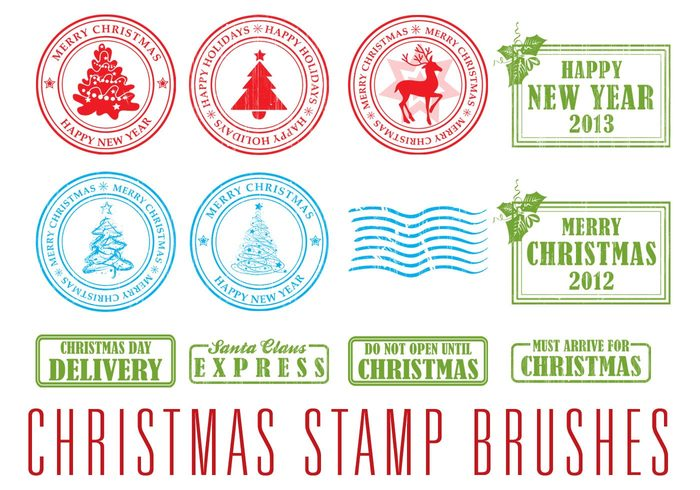 christmas stamp brushes free photoshop brushes at brusheezy - Christmas Stamp