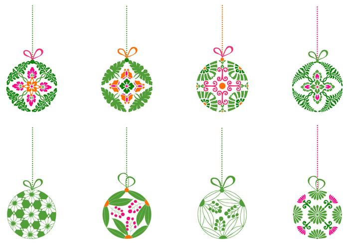 Decorative Christmas Ball Ornament Brush Pack