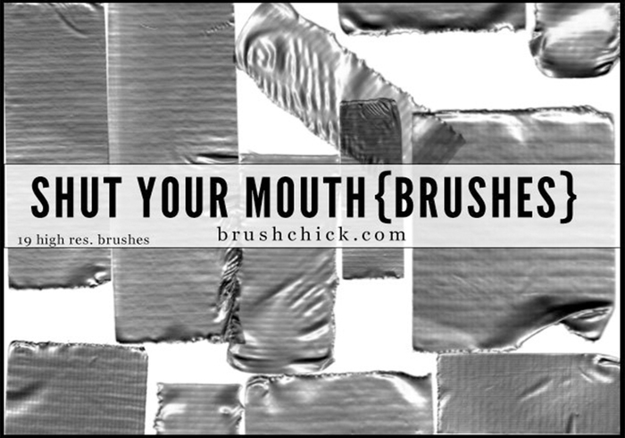 Shut Your Mouth - Duct Tape Pinsel