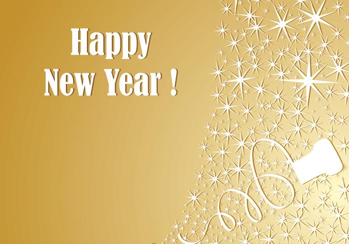 Gold Champagne New Year Wallpaper