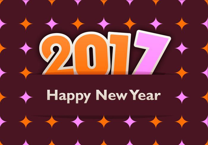 Funky 2017 New Year Wallpaper and Pattern Pack