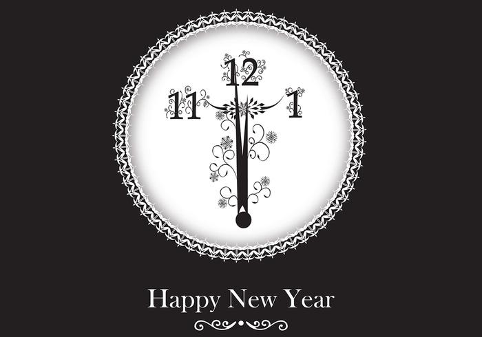 New Year Clock Wallpaper and Brush Pack