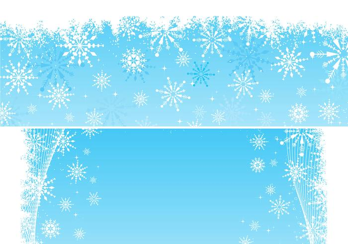 Snowflake Backgrounds and Brushes Pack