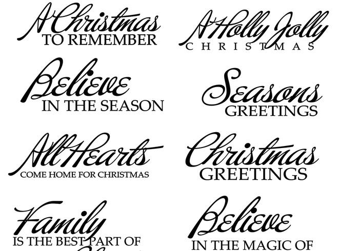 Pincéis de texto de Natal