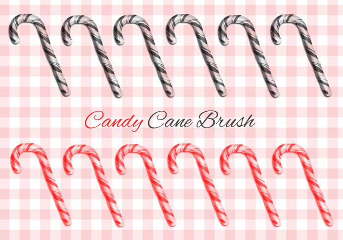 Candy Cane Brush