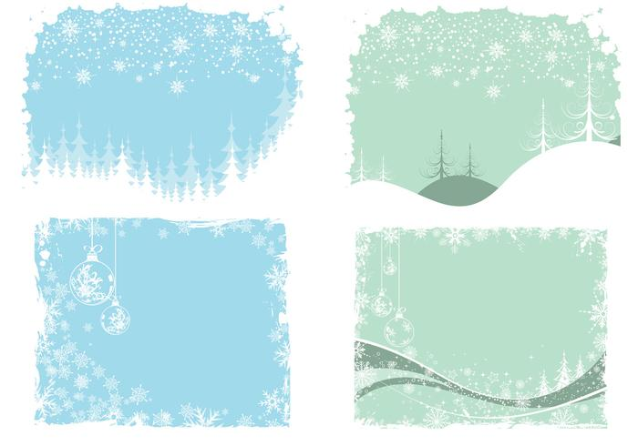 Christmas and Winter Wallpaper and Brush Pack