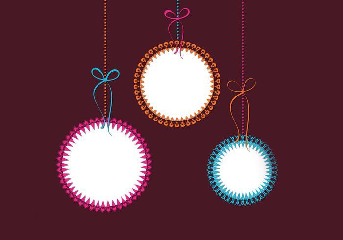 Funky Christmas Ornament Wallpaper