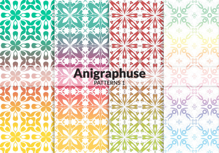 Anigraphuse Wallpaper Patroon Set 1