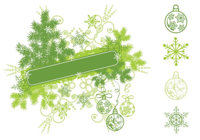 Christmas Snowflake Banner Brush Pack