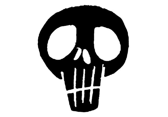 Grunge schwarze Schädel Pinsel