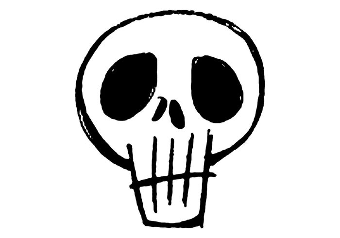 Grunge White Skull Brush
