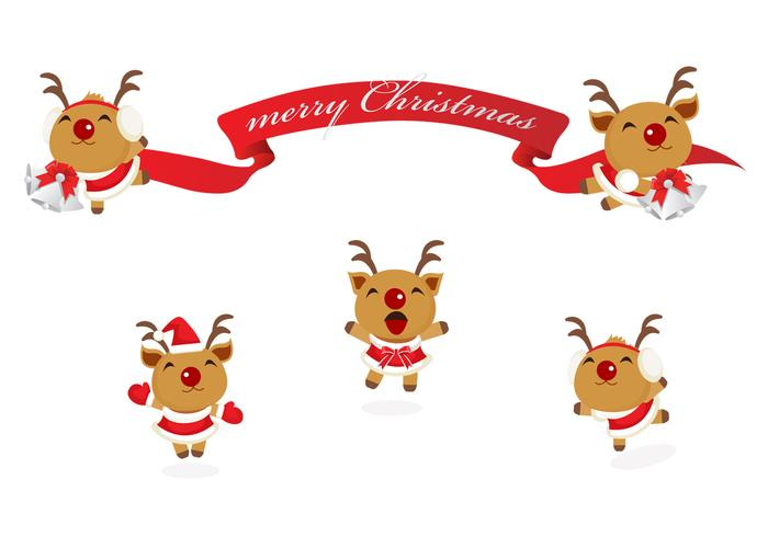 Happy Renae Christmas Banner PSD Pack
