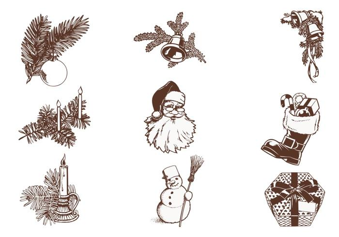 Vintage Christmas Brush Pack