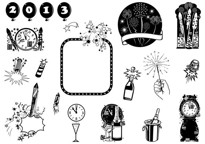 New Year's Eve Brush Element Packs