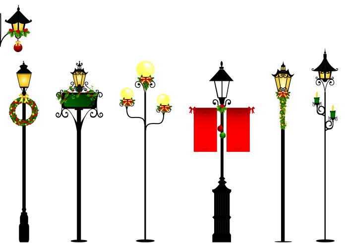 Weihnachten Street Light Pinsel Pack