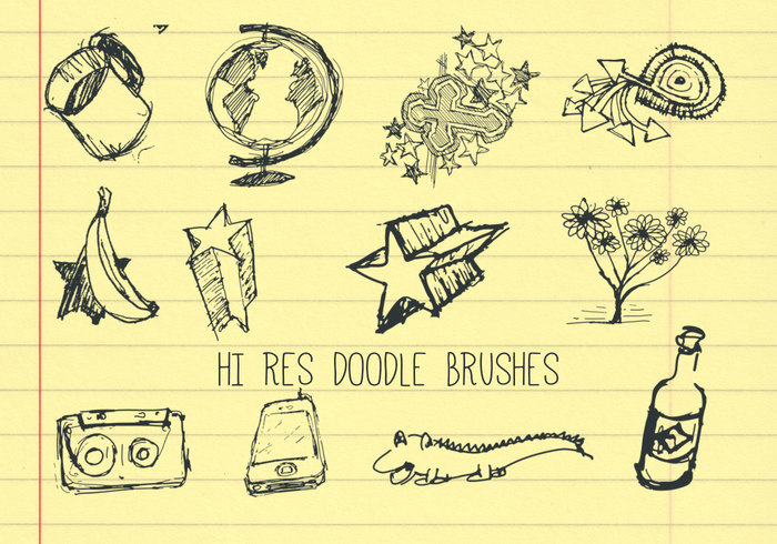 20 High Res Doodle Brushes
