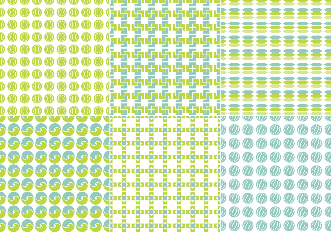 Blue and Green Seamless Pattern Pack - Free Photoshop ...