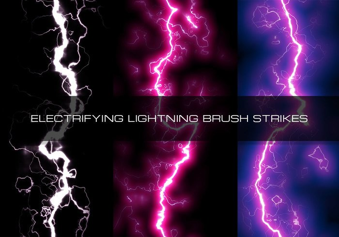 18 Electrifying Lightning Brush Strikes | Free Photoshop