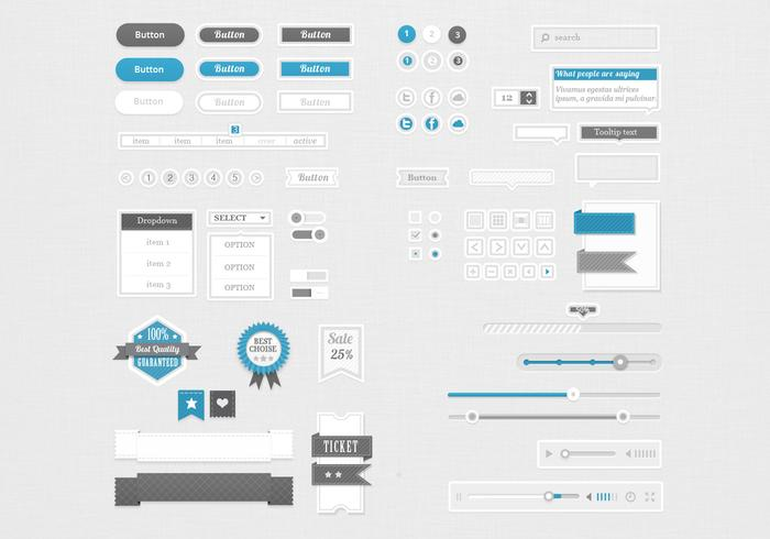 Clean and Retro UI PSD Pack