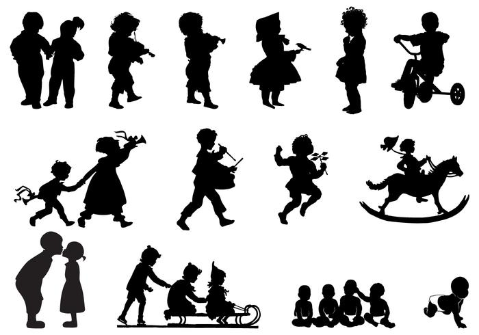 Kinder Silhouetten Pinsel Pack
