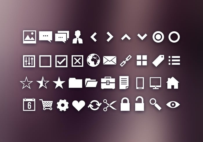 40 Ui Icons Shapes