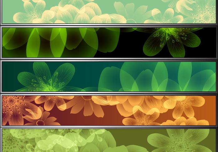 8 Bunte Blumen Banner Pack