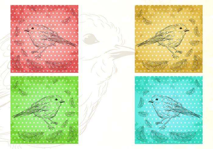 Vögel von einer Feather Wallpaper und Pinsel Pack
