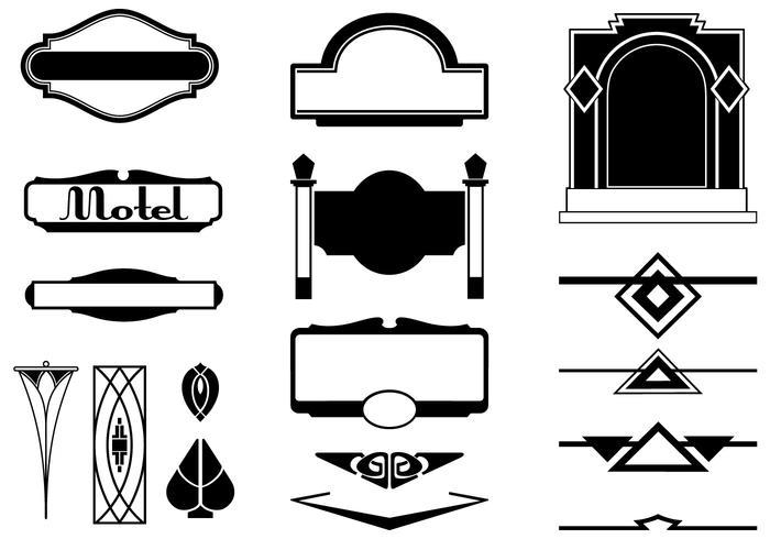 Art Deco Tekenborstels en Ornament Borstel Pak
