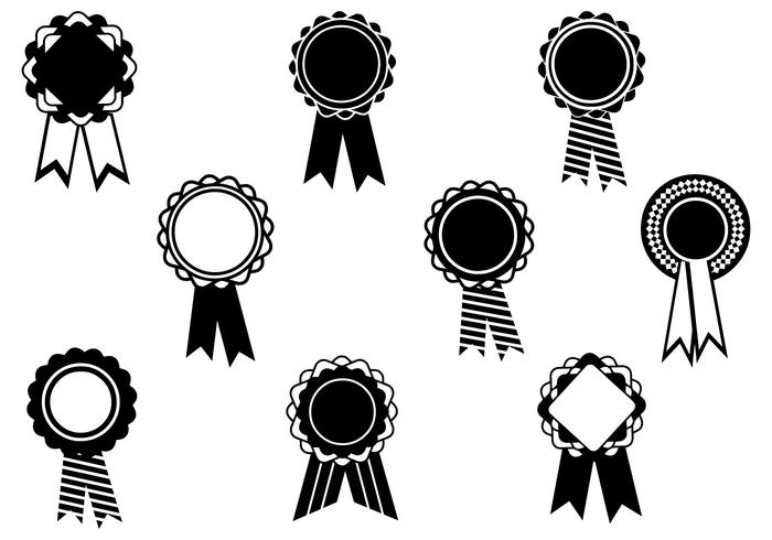 Schwarz-Weiß-Award Ribbon Brush Pack