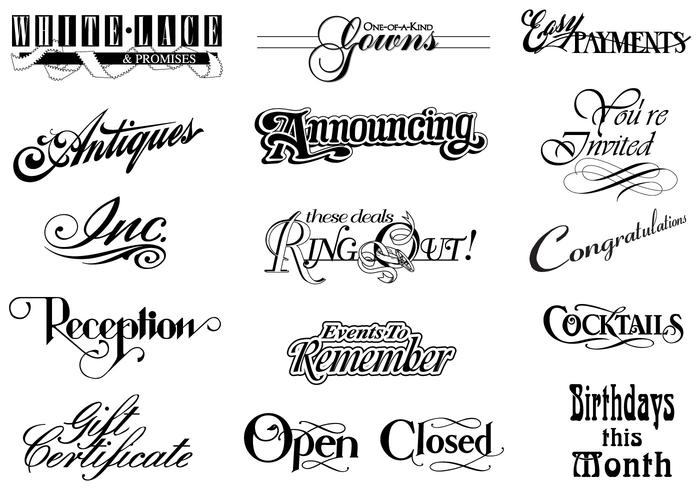 Vintage Typographic Brush Elements Pack