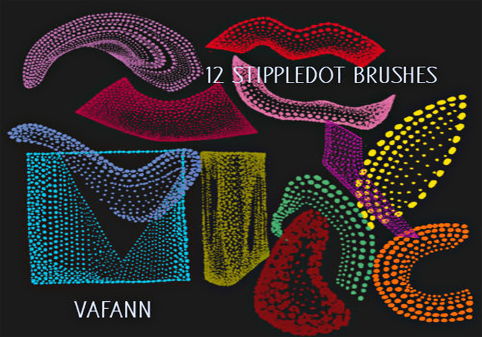 Alien Stippledot Doodle Brush Pack