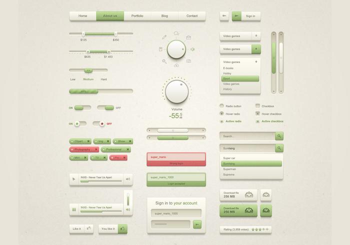 Beige och Natural UI Kit