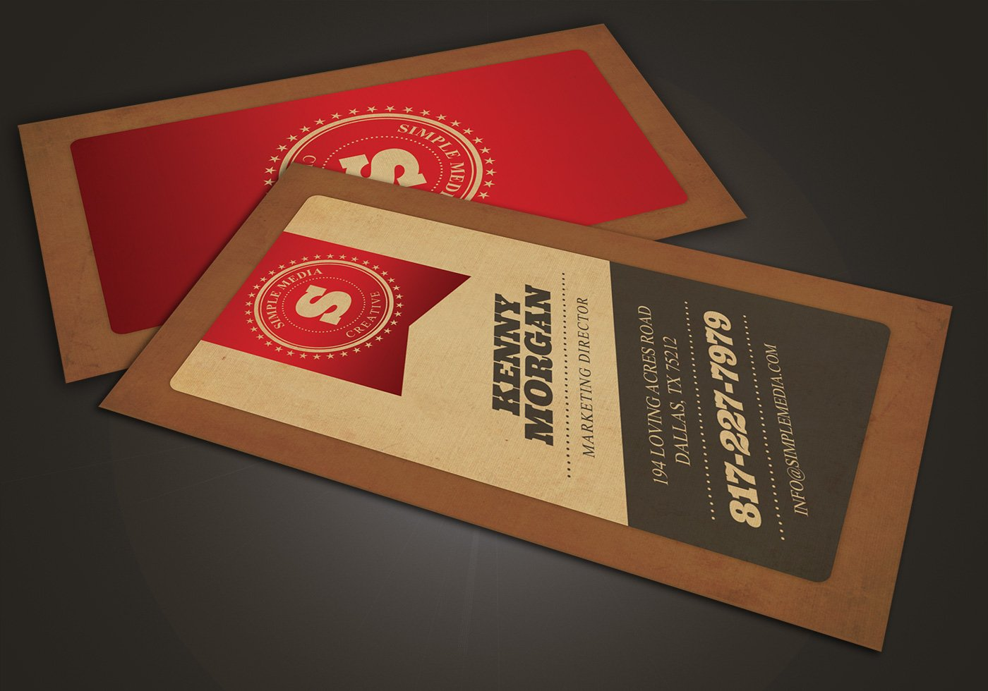 Red Diagonal Business Card PSD Template Pack - Free Photoshop ...