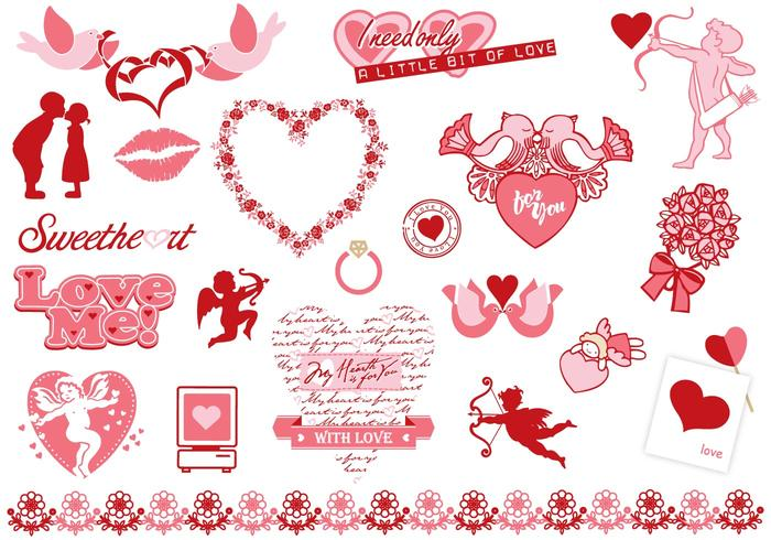 Valentine's Day Brush Elements