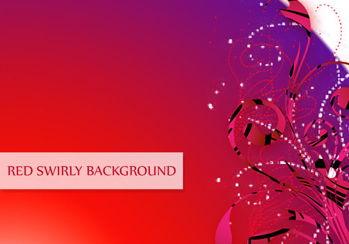 Dreamy Red Swirl Background