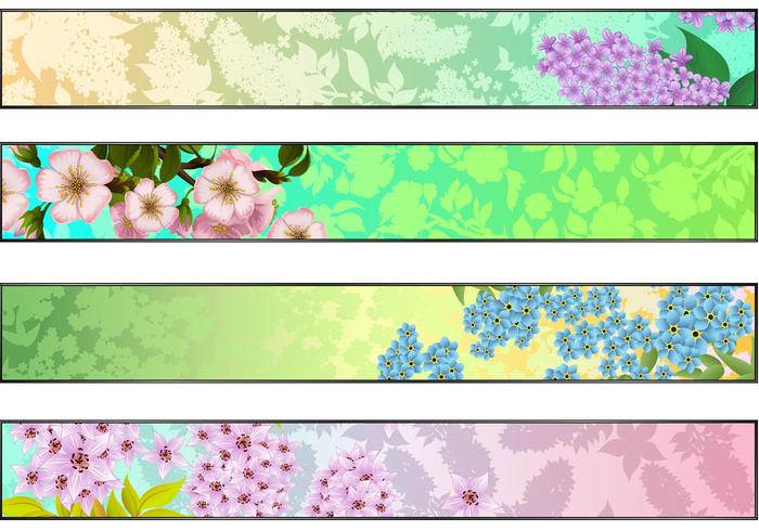 Frische Floral Banner Wallpaper Pack