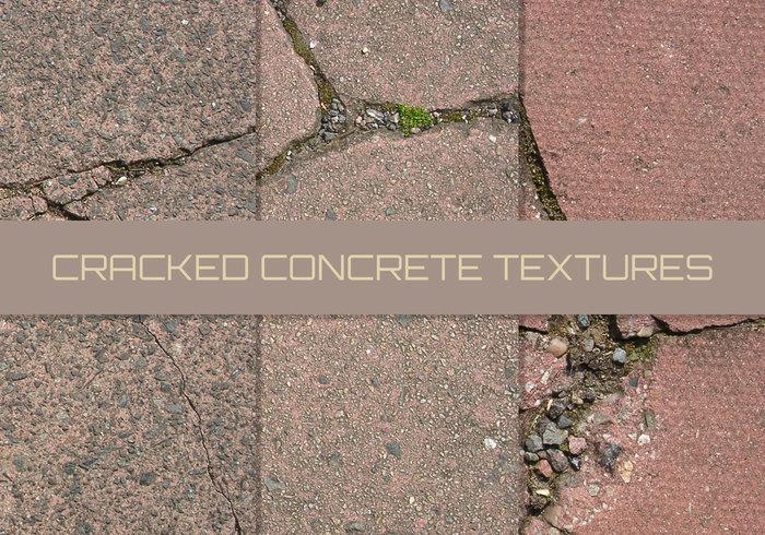 16 gebarsten bestrating texturen