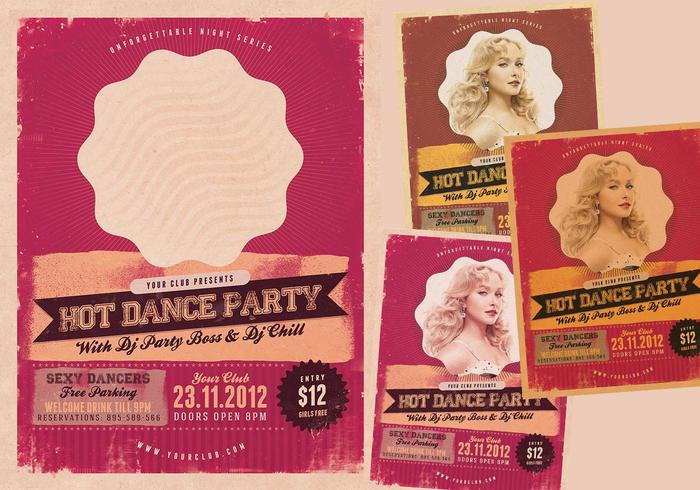 Pack de folle psd de dance party chaud