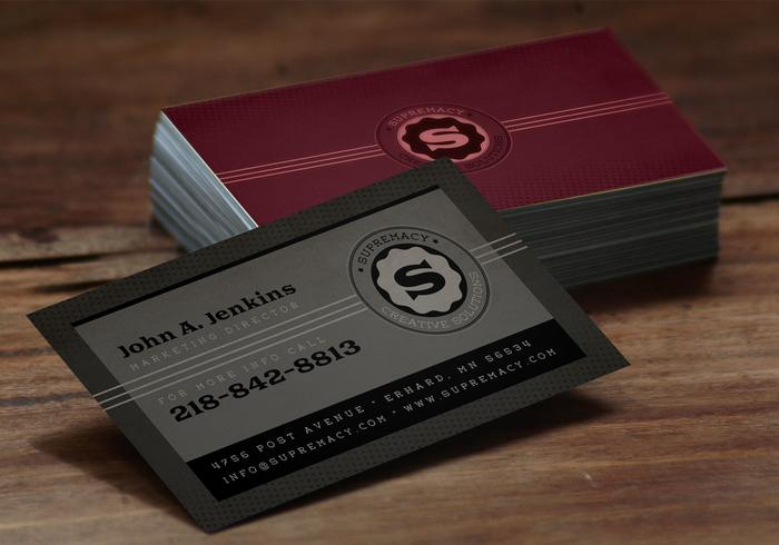 Modern Grey Business Card PSD Pack