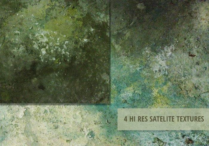 4 Satellit Grunge Texturer